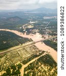 Small photo of Aerial view of Penang, Malaysia after monsoon flood