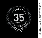 35 years design template. 35th... | Shutterstock .eps vector #1089391502