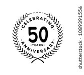 50 years design template. 50th... | Shutterstock .eps vector #1089391556