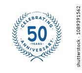 50 years design template. 50th... | Shutterstock .eps vector #1089391562