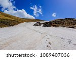 snow pathway in a mountain... | Shutterstock . vector #1089407036