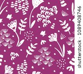 trendy floral pattern in the... | Shutterstock .eps vector #1089408746