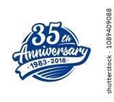35 years anniversary design... | Shutterstock .eps vector #1089409088