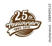 25 years anniversary design... | Shutterstock .eps vector #1089409115
