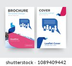 discussion board brochure flyer ... | Shutterstock .eps vector #1089409442