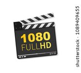 logo 1080 full hd. vector... | Shutterstock .eps vector #1089409655