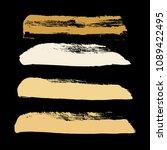 grunge hand drawn paint brush.... | Shutterstock .eps vector #1089422495