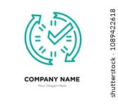 real time data company logo... | Shutterstock .eps vector #1089422618