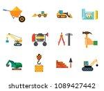 construction site icon set.... | Shutterstock .eps vector #1089427442
