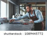 young master at work in studio | Shutterstock . vector #1089445772