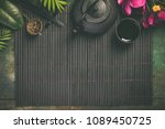 asian food background   tea and ... | Shutterstock . vector #1089450725