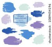 vector paint brush spots  hand... | Shutterstock .eps vector #1089454196