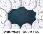 clock on a dark background.... | Shutterstock . vector #1089456422