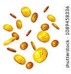 falling dollar coins. success ... | Shutterstock .eps vector #1089458336