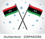 libya emblem snow | Shutterstock .eps vector #1089460586