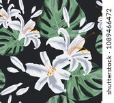 seamless floral pattern of... | Shutterstock .eps vector #1089466472