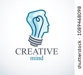 creative brain concept ... | Shutterstock .eps vector #1089468098