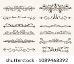 vector set of decorative... | Shutterstock .eps vector #1089468392