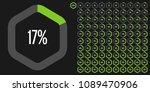 set of hexagon percentage... | Shutterstock .eps vector #1089470906