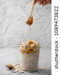 healthy diet breakfast.... | Shutterstock . vector #1089473822