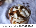 high caloric shake and frozen... | Shutterstock . vector #1089475262