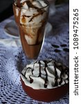 high caloric shake and frozen... | Shutterstock . vector #1089475265