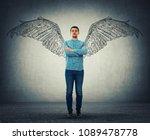 full length portrait of a... | Shutterstock . vector #1089478778