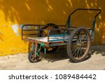 The Old Cart For Moving Much.