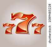 jackpot. 777. casino | Shutterstock . vector #1089485228