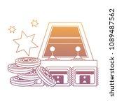 arcade machine design | Shutterstock .eps vector #1089487562