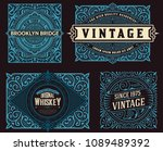 set of 4 vintage labels for...   Shutterstock .eps vector #1089489392