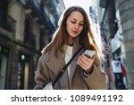 successful travel blogger... | Shutterstock . vector #1089491192
