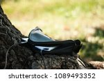 a portable charger charges the...   Shutterstock . vector #1089493352