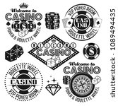 gambling and casino set of... | Shutterstock .eps vector #1089494435