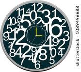 clock face vector | Shutterstock .eps vector #1089496688
