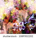 abstract bouquet of stylized... | Shutterstock . vector #1089502202