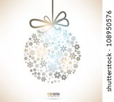 christmas ball made from... | Shutterstock .eps vector #108950576
