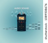 audio recorder for recording... | Shutterstock .eps vector #1089508676