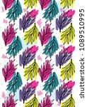leaves pattern vector... | Shutterstock .eps vector #1089510995