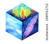 abstract strange cube world art ... | Shutterstock . vector #1089511712