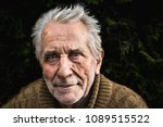 very old grandfather. he has... | Shutterstock . vector #1089515522