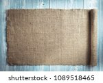 burlap hessian sacking on... | Shutterstock . vector #1089518465