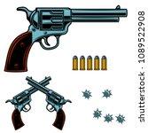 revolver colorful illustration. ... | Shutterstock .eps vector #1089522908