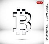 bitcoin vector icon  stock... | Shutterstock .eps vector #1089523562
