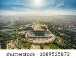 barcelona aerial panorama ... | Shutterstock . vector #1089525872