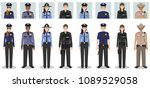 police people concept. set of... | Shutterstock .eps vector #1089529058