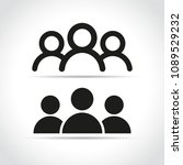 illustration of people icons on ... | Shutterstock .eps vector #1089529232