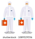medical concept. couple of man... | Shutterstock .eps vector #1089529556