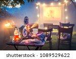 small cinema in the summer... | Shutterstock . vector #1089529622