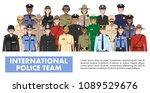 international police people... | Shutterstock .eps vector #1089529676